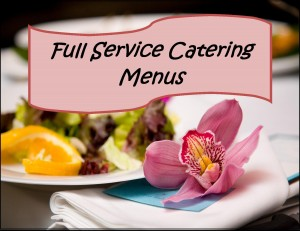 Full Service catering menu logo