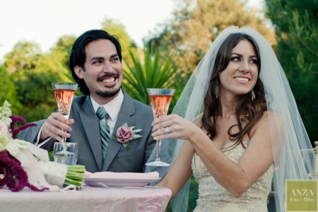 Wedding Toast Glasses and Mt. Woodson Castle Receptions