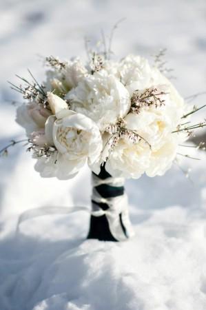 Wedding Dress Style Winter Wonderland Flowers