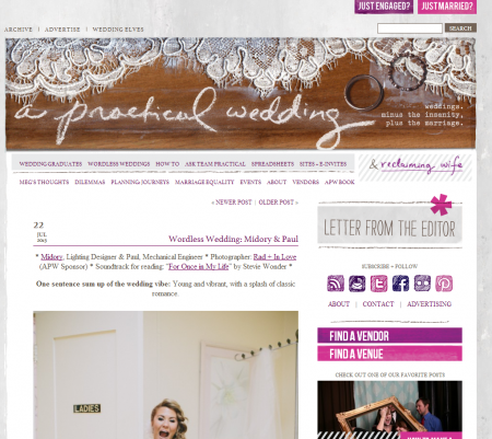 Featured Wedding Midory Paul A Practical Wedding San
