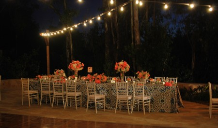 LCR - Head table with market lighting _ night