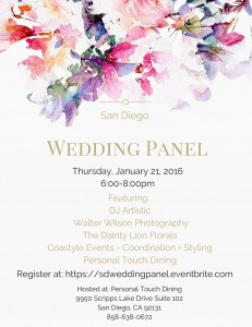 San Diego Wedding Panel - Jan 21, 2016